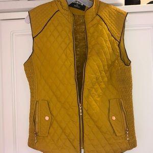 Jackets & Blazers - Mustard vest.